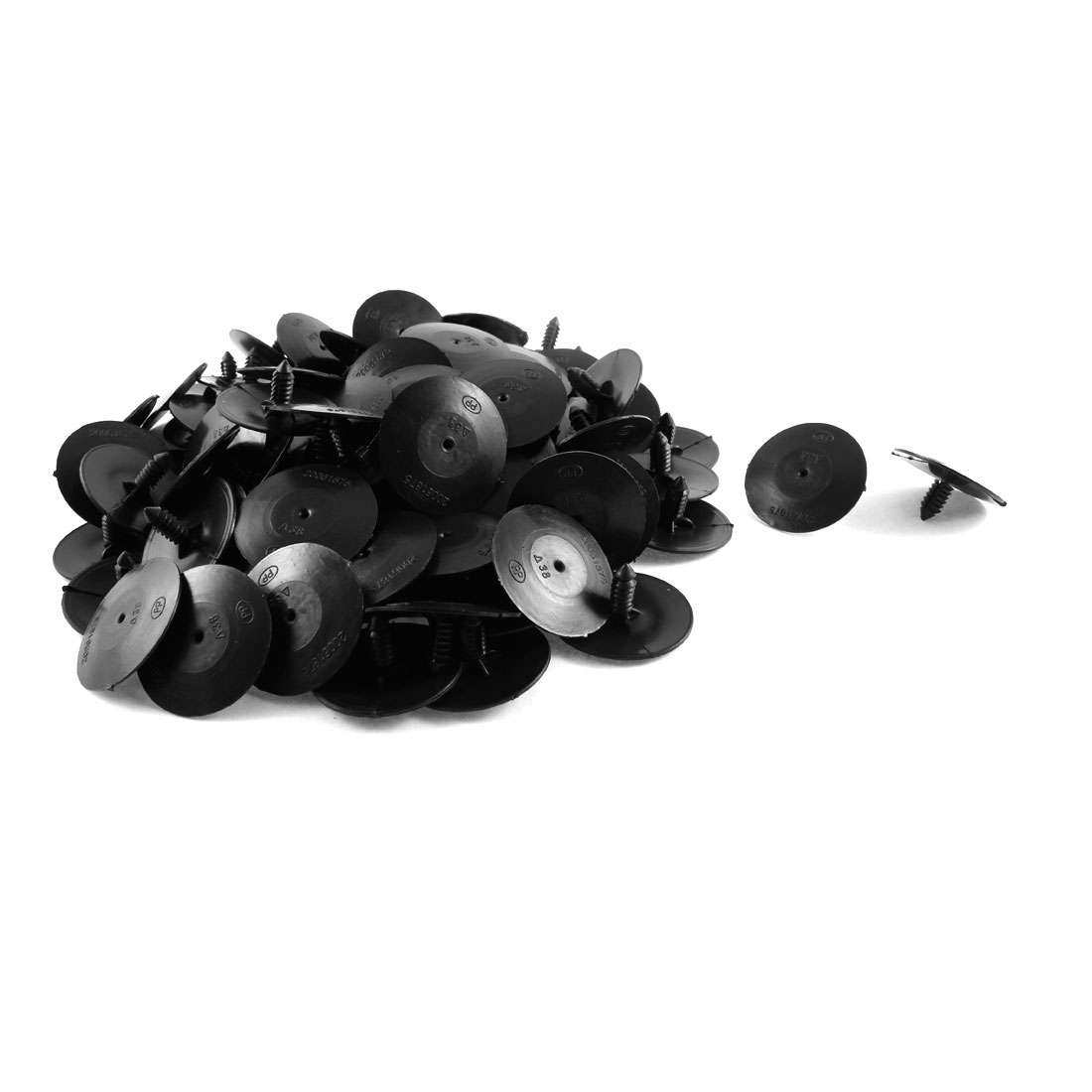 100 Pcs Black Plastic Splash Guard Defender Fastener Bumper Rivet for Buick