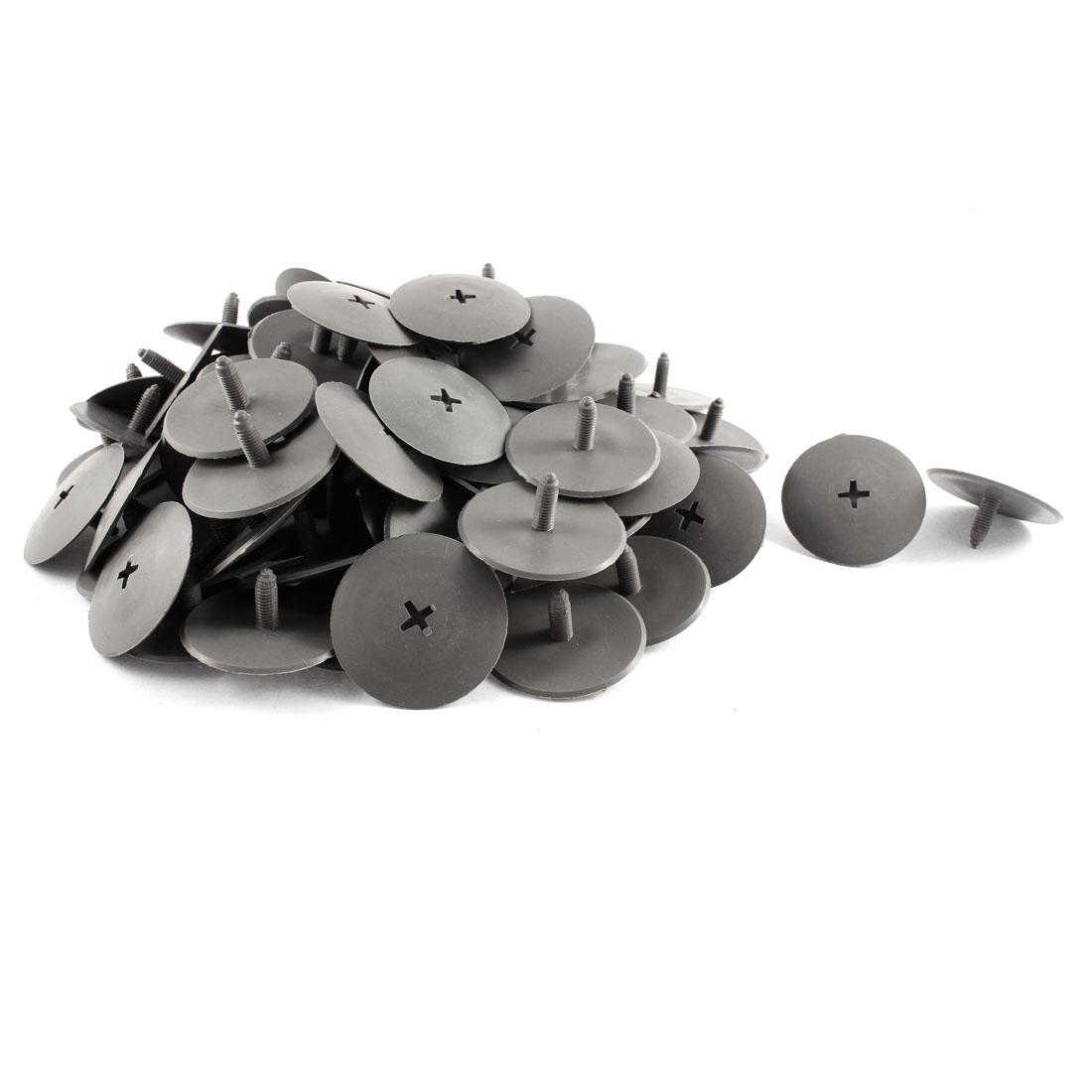 100 Pcs Black Plastic Splash Guard Trim Panel Hood Mat Rivet for Buick