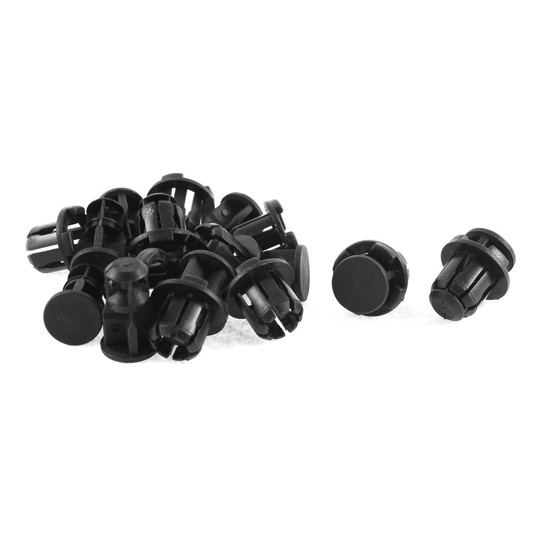 10 Pcs Black Plastic Splash Guard Push-Type Bumper Mat Clips for Ford