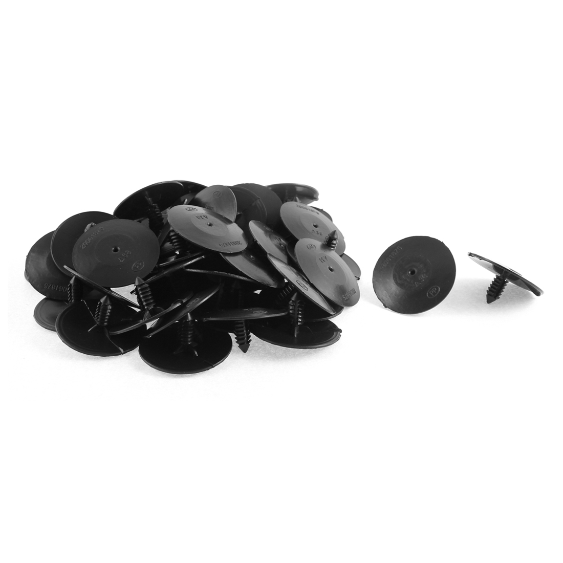 50 Pcs Black Plastic Splash Guard Defender Fastener Bumper Rivet for Buick