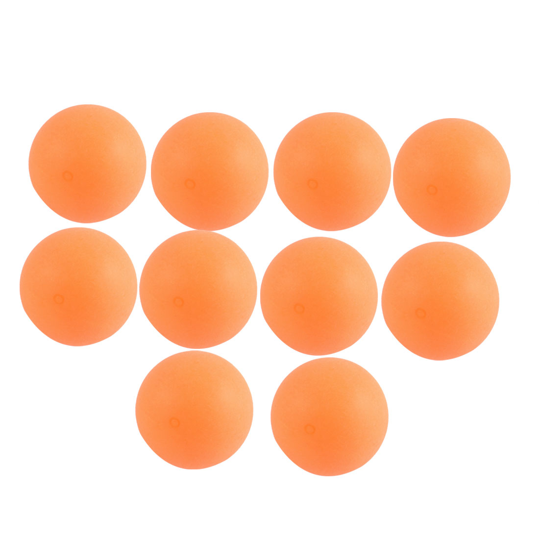 Competition Sports Plastic 40mm Diameter Table Tennis Balls Ping Pong 10 Pcs Orange