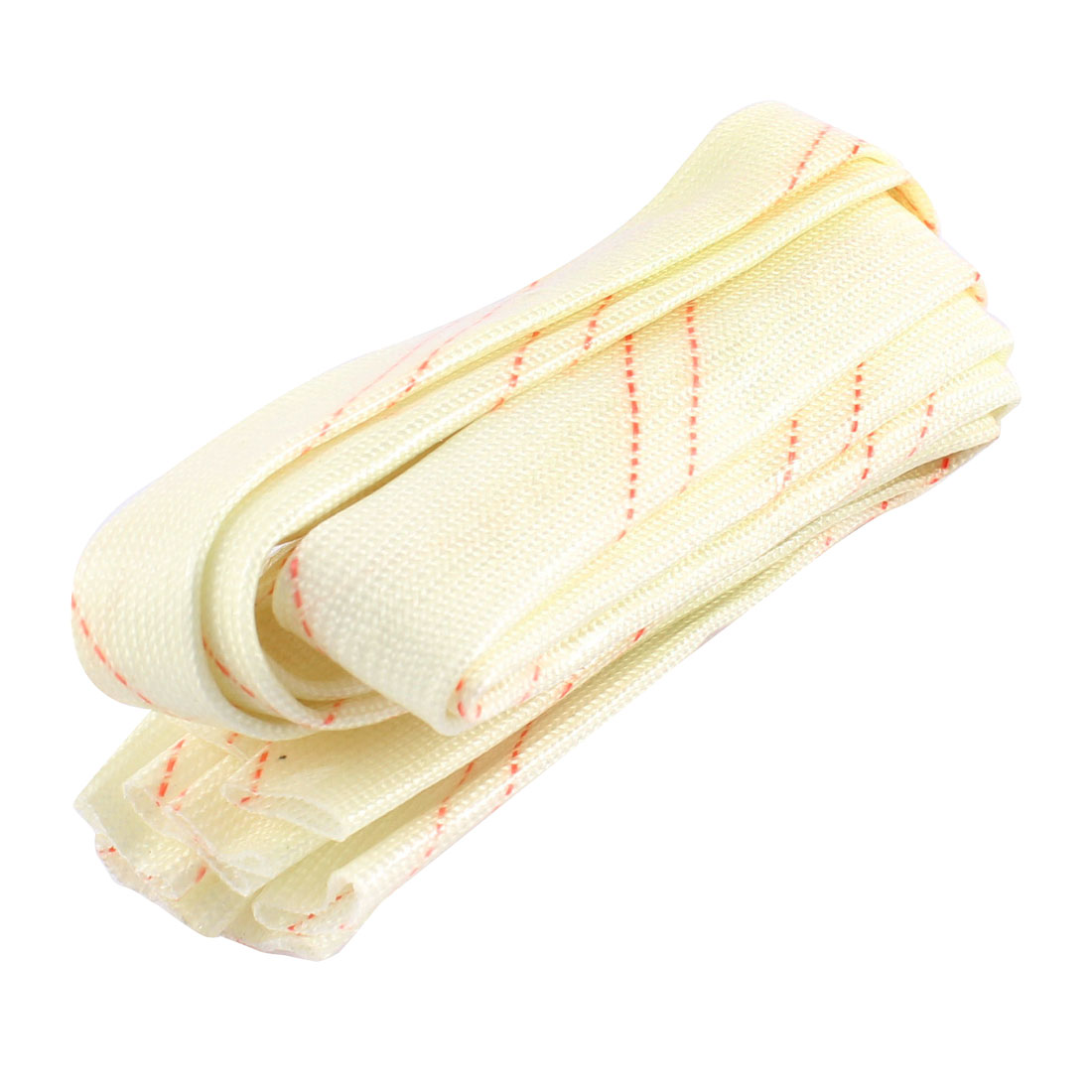 "6pcs 20"" 50cm Length 14mm Dia Fiberglass PVC Insulating Cover Sleeve Tube Sleeving Wrap"