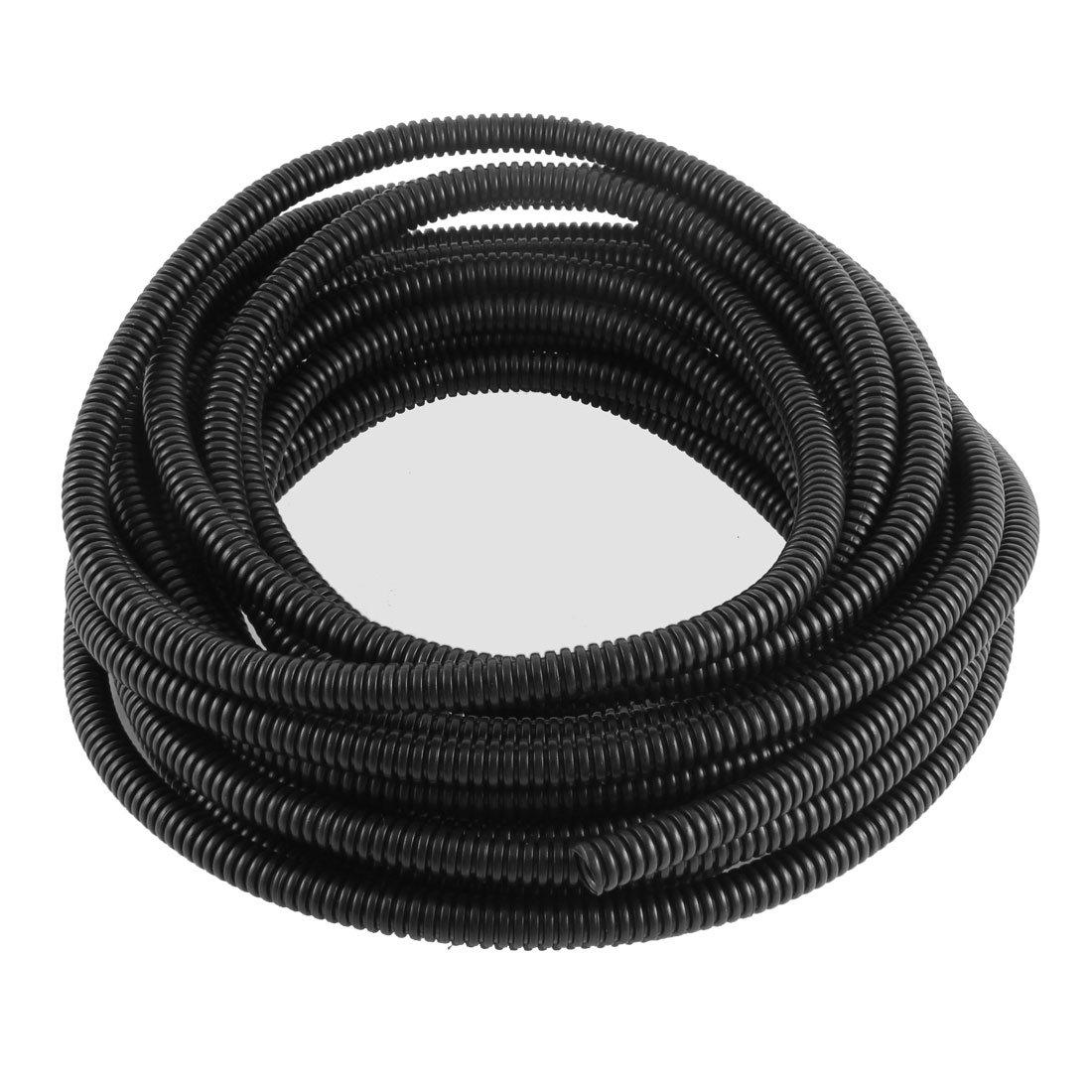 10mm x 8mm Dia Flexible Bellows Hose Corrugated Conduit Cable Tube Tubing Pipe 29.5Ft 9M Long Black