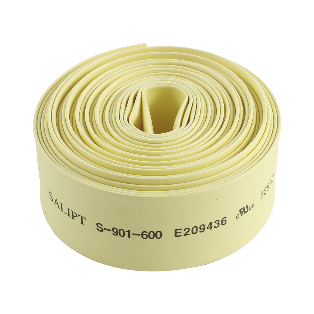 Yellow Polyolefin 16mm Dia 2:1 Heat Shrink Tubing Shrinkable Tube Insulated Pipe Cover 13Ft 4m Long