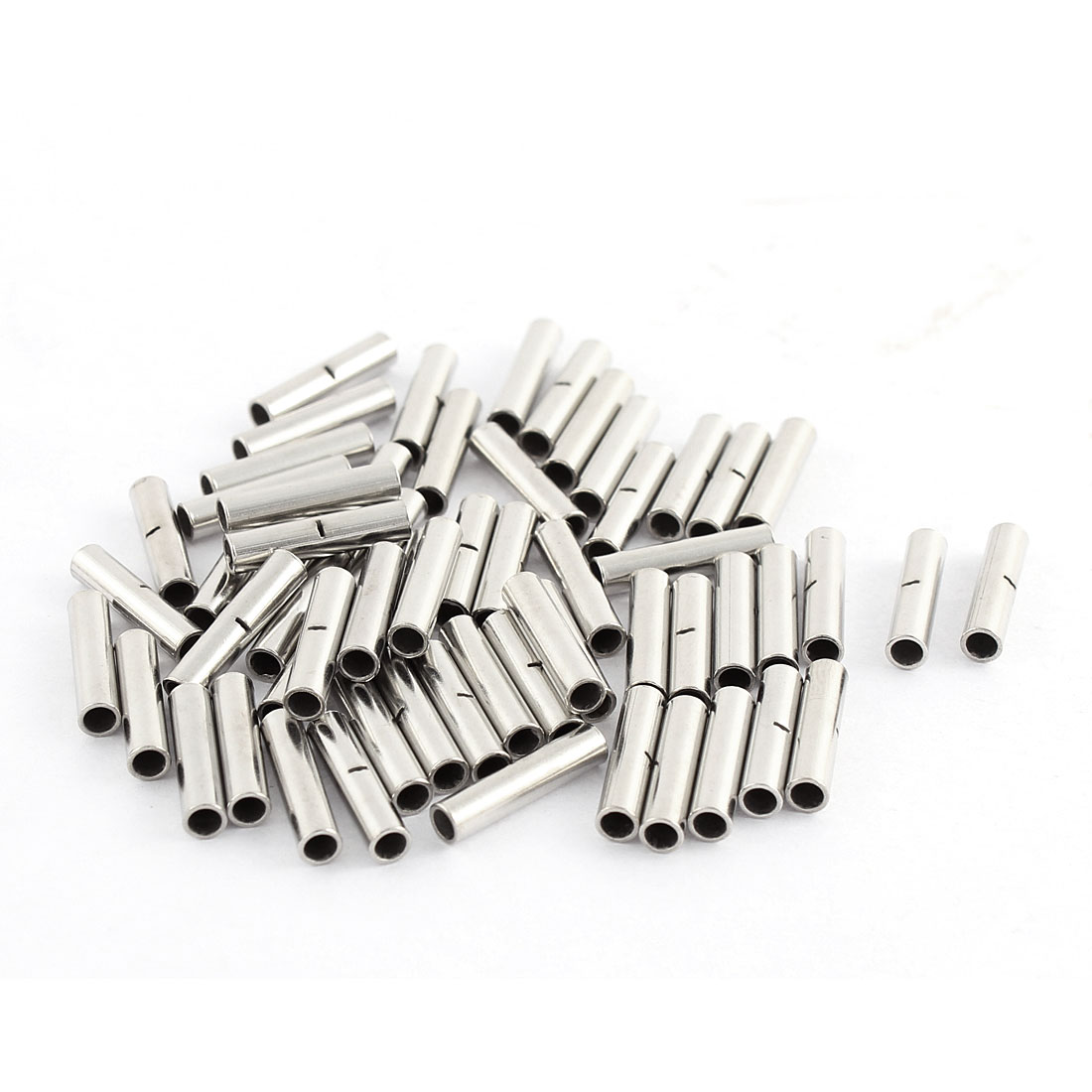 60pcs BN1-1 22-16 AWG Tubular Design Non-insulated Butt Connectors Cable Adapters