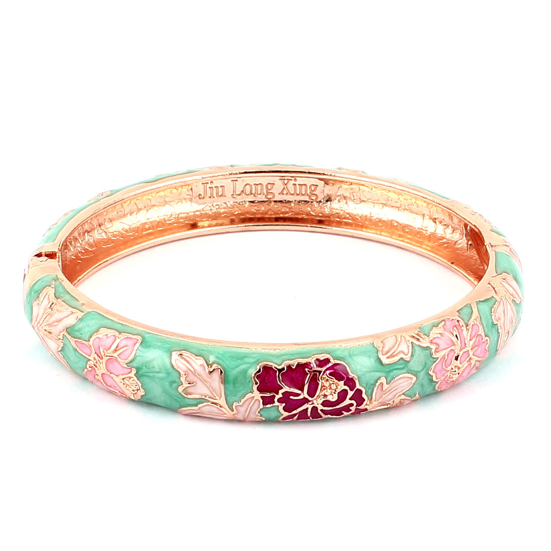 Lady Enamel Gold Plated Cuff Bangle Jewelry Bracelet Wedding Party Gift