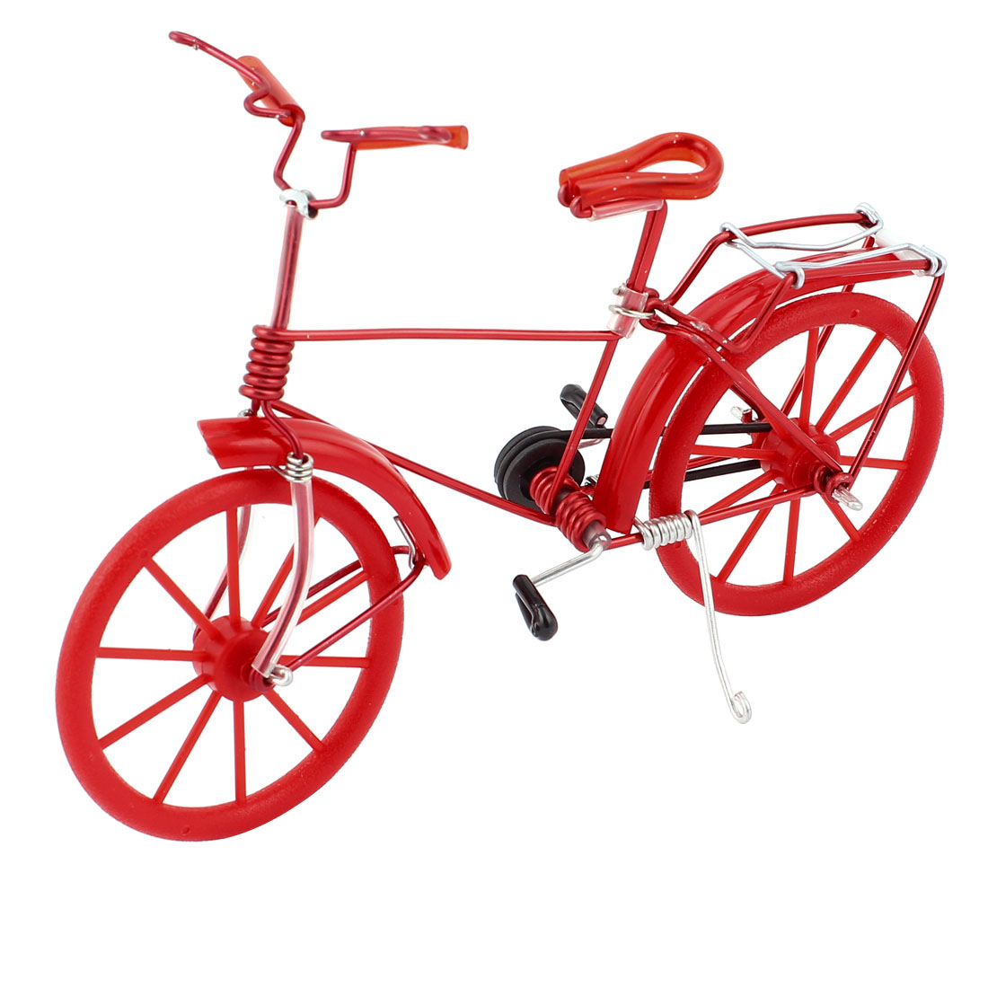 Handmade Bike Bicycle Model Home Table Decoration Ornament Toy Red