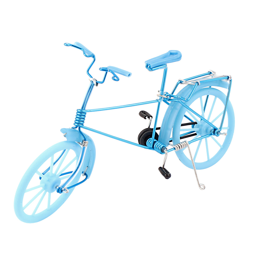 Wire Art Bicycle Model Bike Handmade Decoration Toy Gift Blue