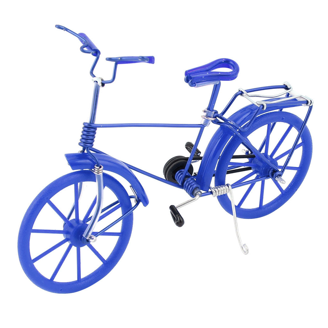 Handmade Artificial Wire Bicycle Bike Model Decoration Deep Blue