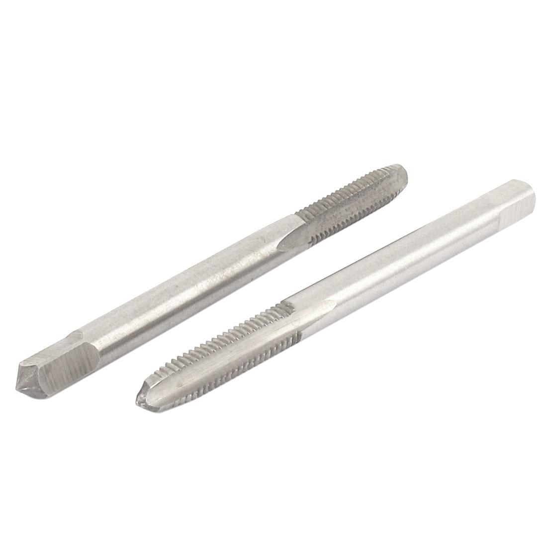 2 Pcs M5x0.8mm HSS 3 Flutes Metric Screw Hand Tap Thread Tools