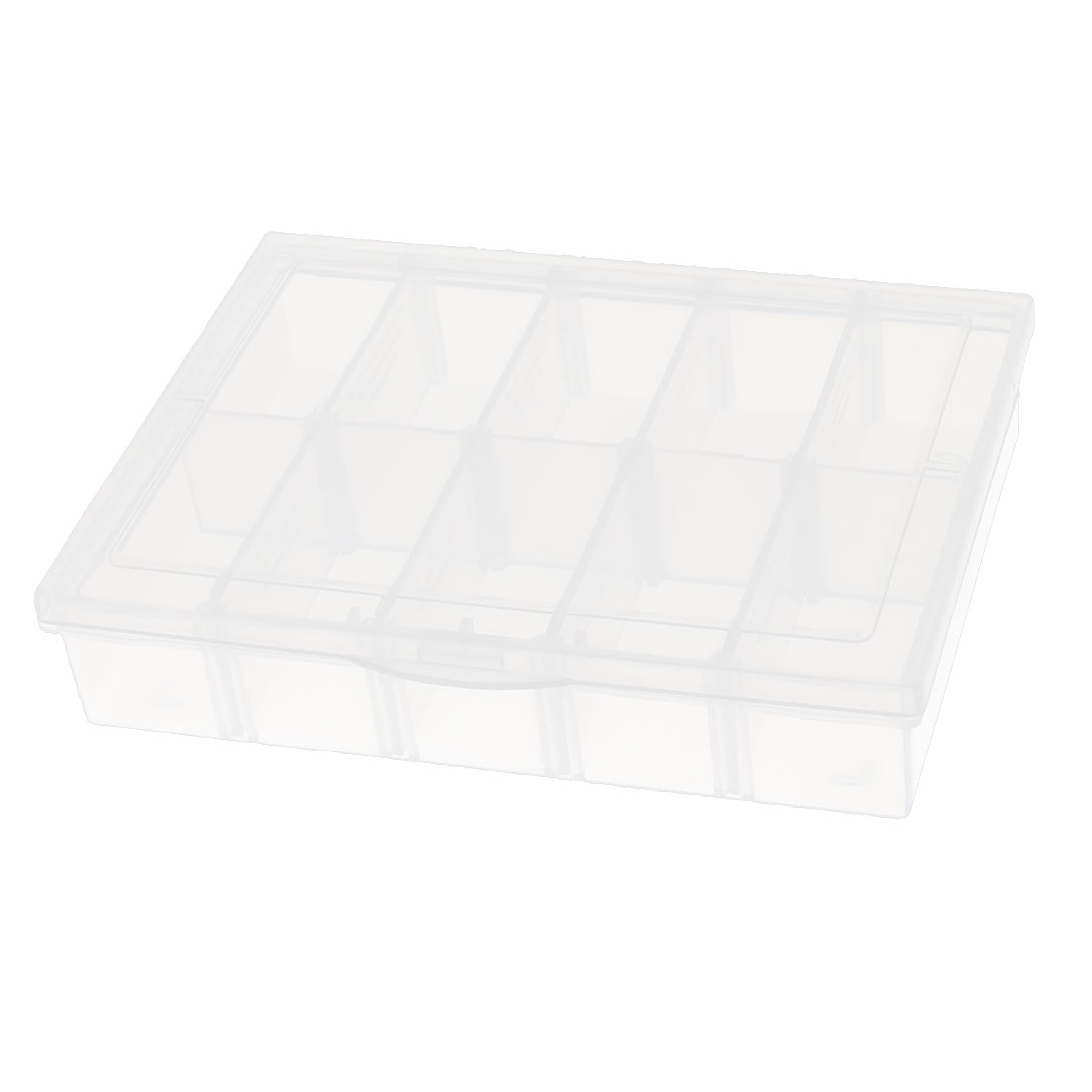 Plastic Rectangular Detachable 10 Pcs Electronic Components Storage Box Case