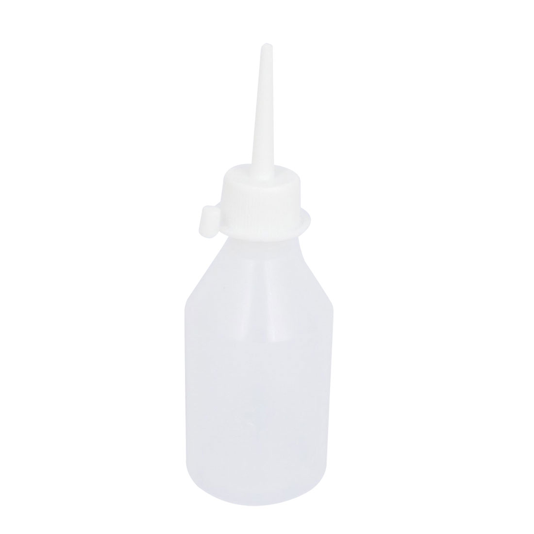 100mL Capacity Squeezable Round Plastic Liquid Oil Glue Bottle Holder White