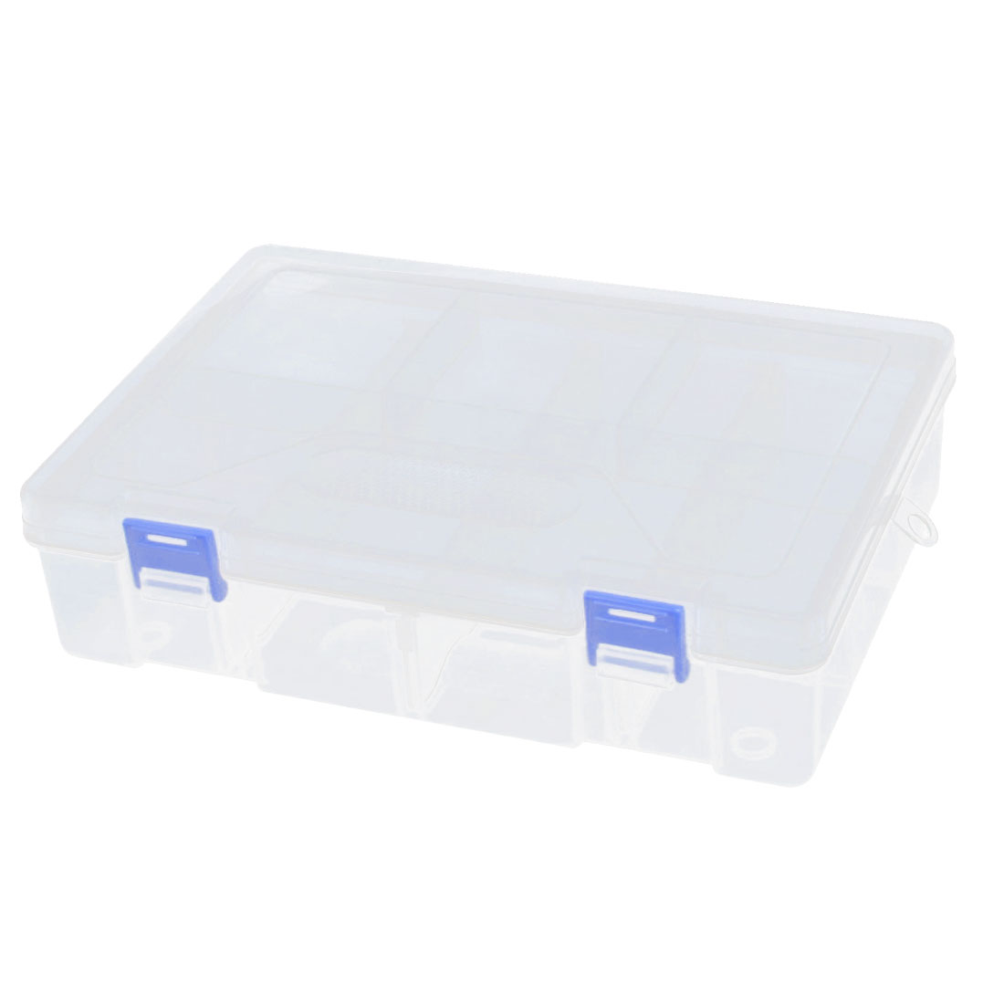 Plastic 8 Compartment 2 Layers Electronic Component Storage Box Case Organizer