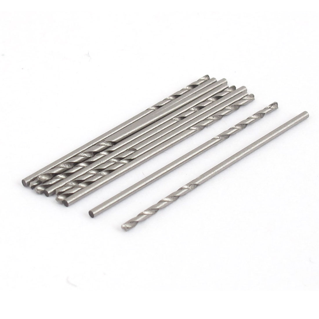 10 Pcs 1mm x 34mm HSS Straight Shank Twist Drilling Bits for Electrical Drill