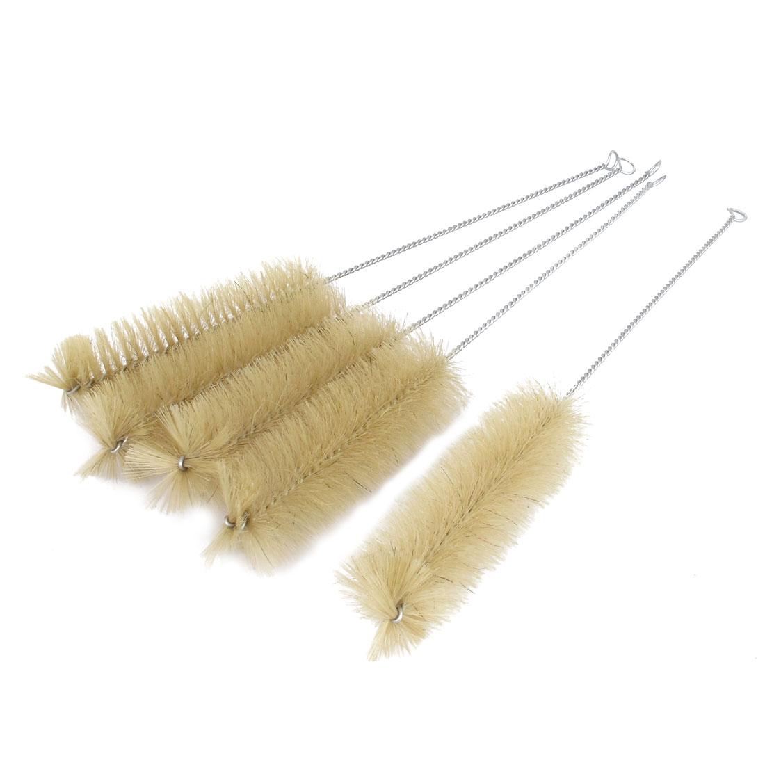 5 Pcs 5cm Dia. Nylon Bristle Test Tube Bottle Cleaning Brush Cleaner 36cm Long