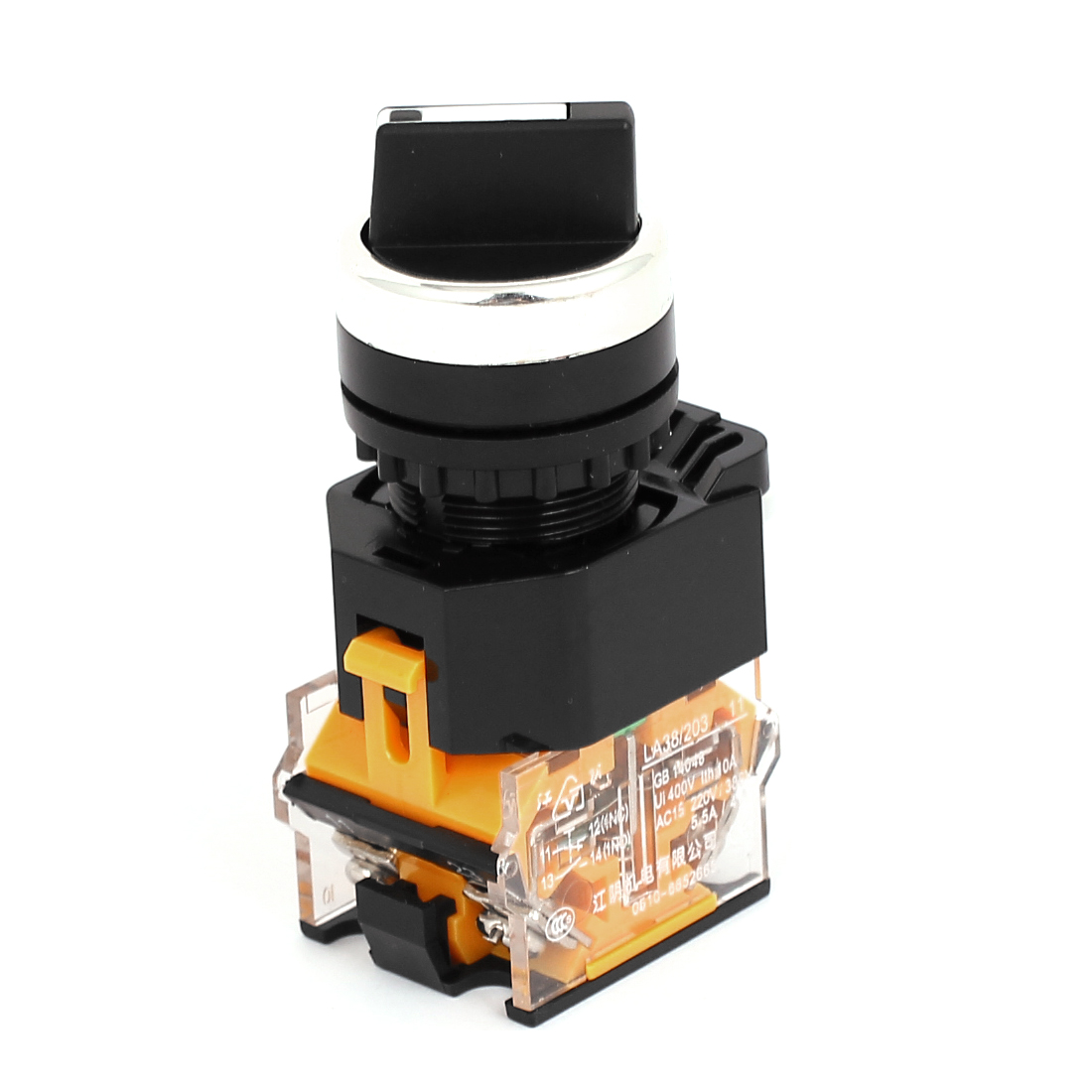 400V 10A NC+NO 3 Position DPST Self-Locking Rotary Selector Switch 22mm