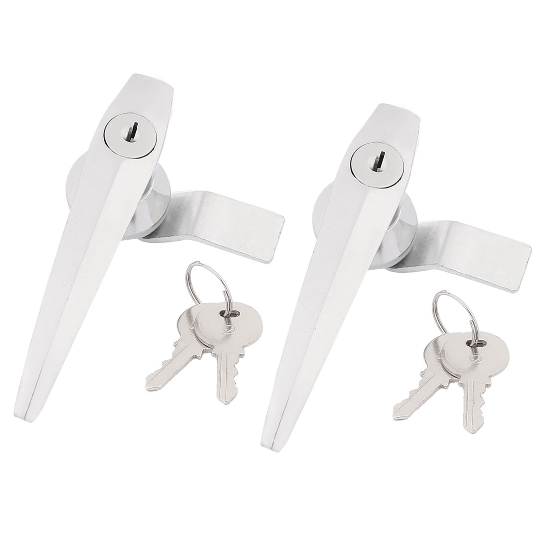 Home Safeguard Cabinet L Shaped Handle Metal Lever Lock w Keys 2Pcs
