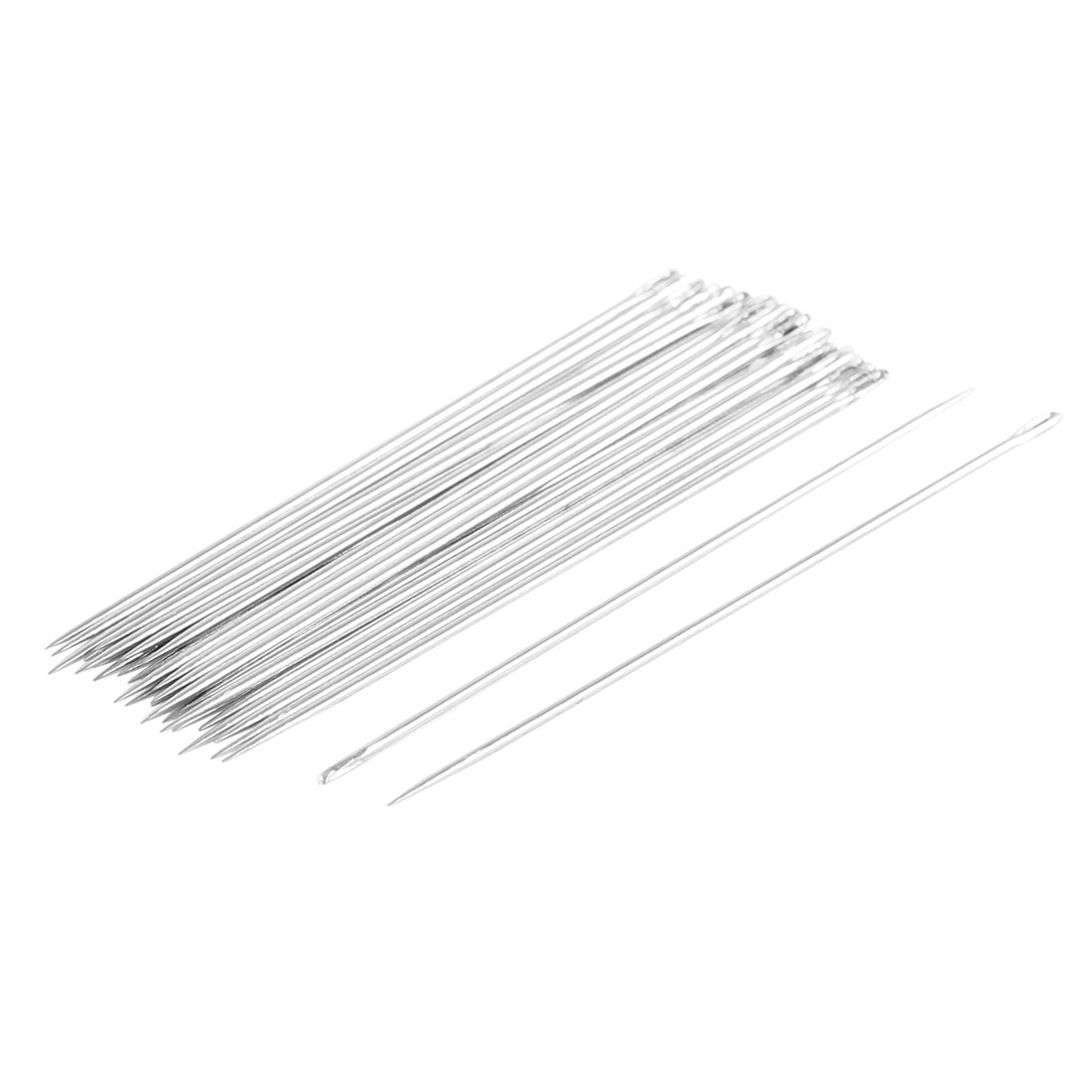 30 Pcs Silver Tone Stainless Steel Sewing Needles