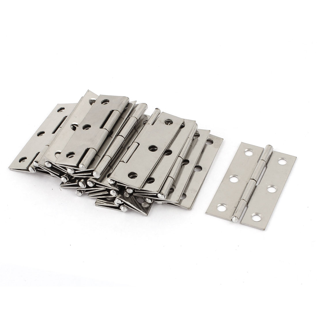 "6 Mounting Holes Stainless Steel Butt Hinges 2.2"" Long 20 Pcs"