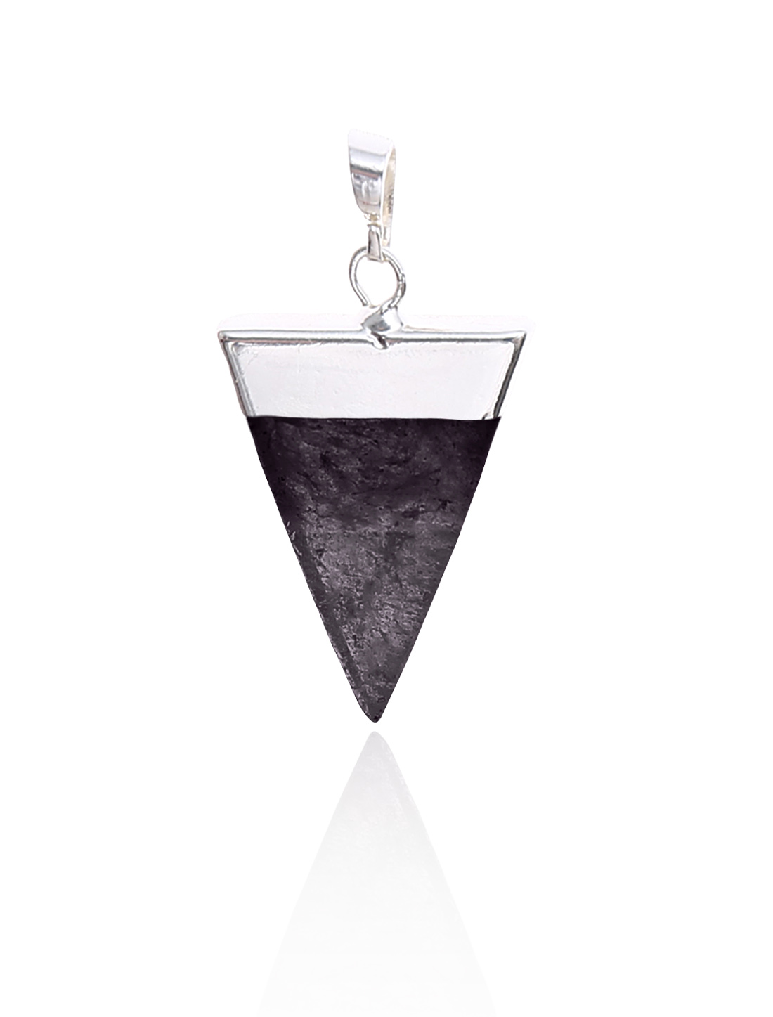 Amethyst Pyramid Healing Point Reiki Chakra Gemstone Silver Plated Pendant For Necklace