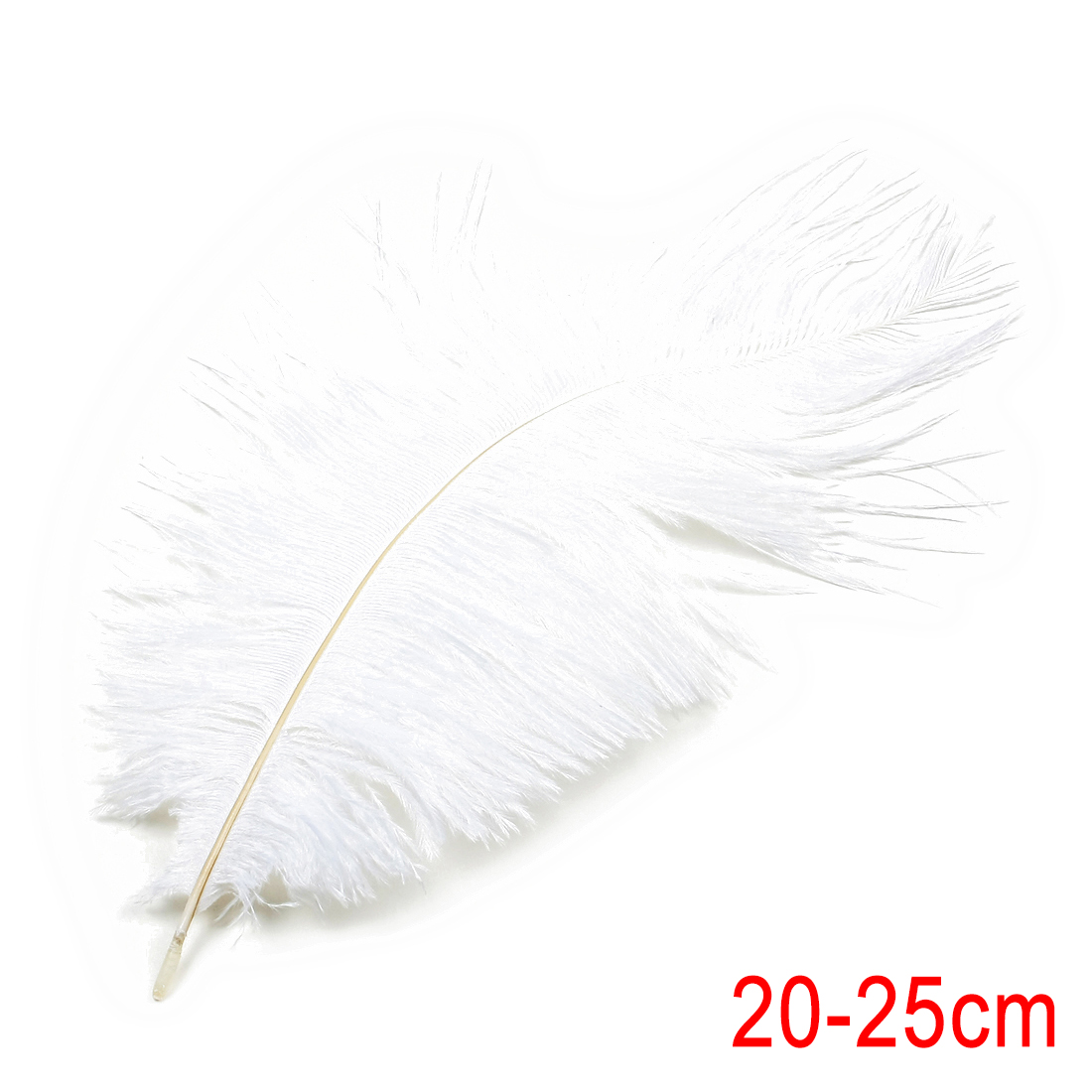 8-10 inch / 20-25cm Ostrich Feather for Wedding Party Decoration White