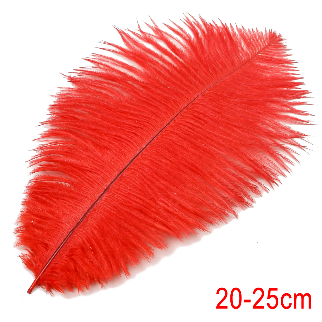 8-10 inch / 20-25cm Ostrich Feather for Wedding Party Decoration Red