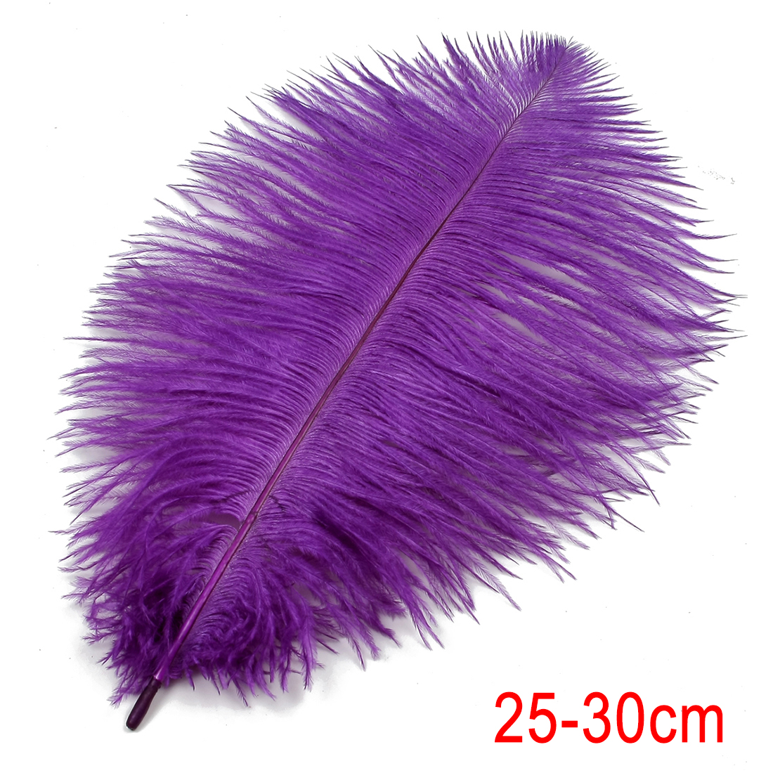 26cm Long Ostrich Feather for Wedding Party Decoration Purple