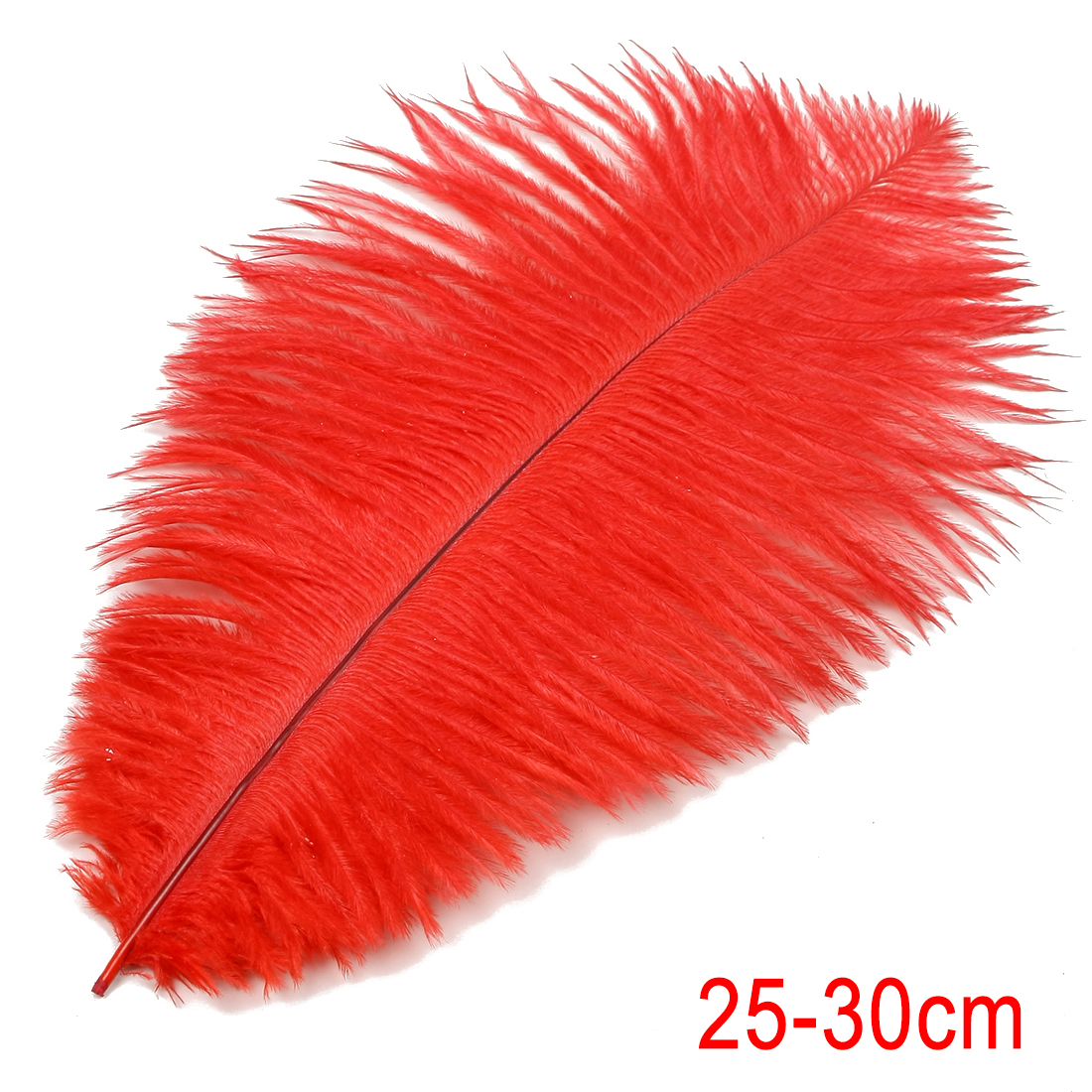 10-12 inch / 25-30cm Ostrich Feather for Wedding Party Decoration Red