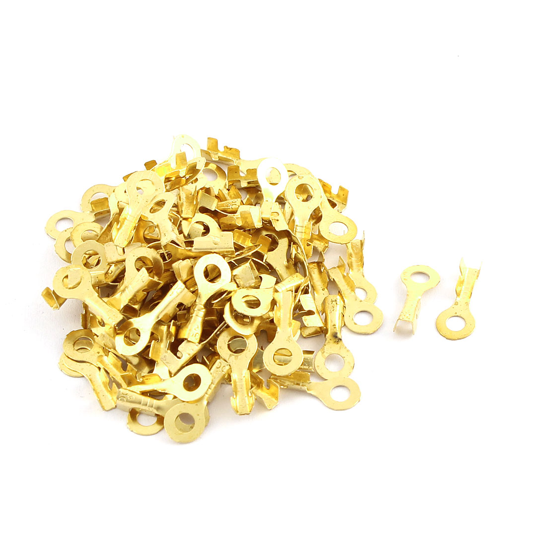 100 Pcs Quick Disconnects Non-insulated Ring Terminal Lug Connector 3mm