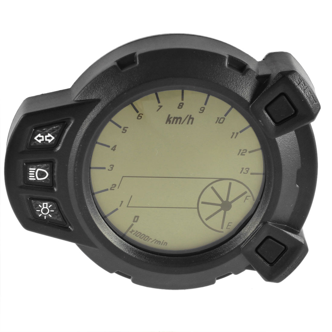 Motorbike LCD Digital Odometer Tachometer Speedometer Cluster w LED Light for BWS