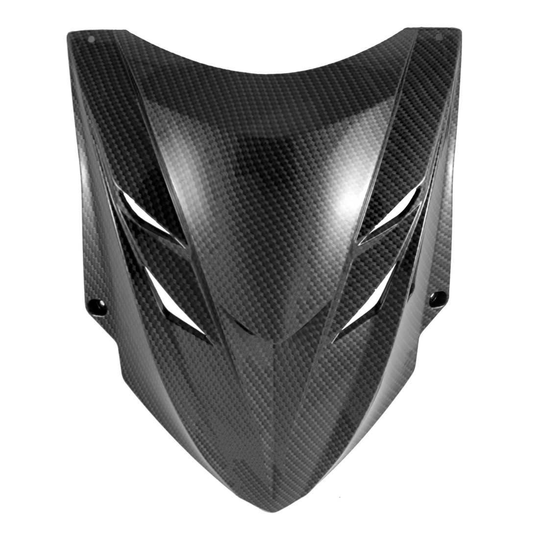 Motorcycle Black ABS Plastic Carbon Fiber Pattern Front Panel Cover for BWS
