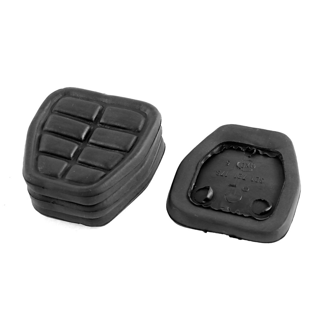 4pcs Black Rubber Car Auto Vehicle Antislip Brake Gas Clutch Pedal Pad Cover