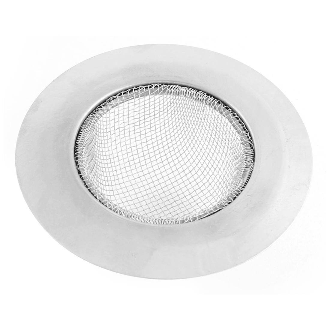 Kitchen Bathroom Metal Basin Sink Floor Mesh Drainer Strainer Filter Hair Stopper 90mm Dia