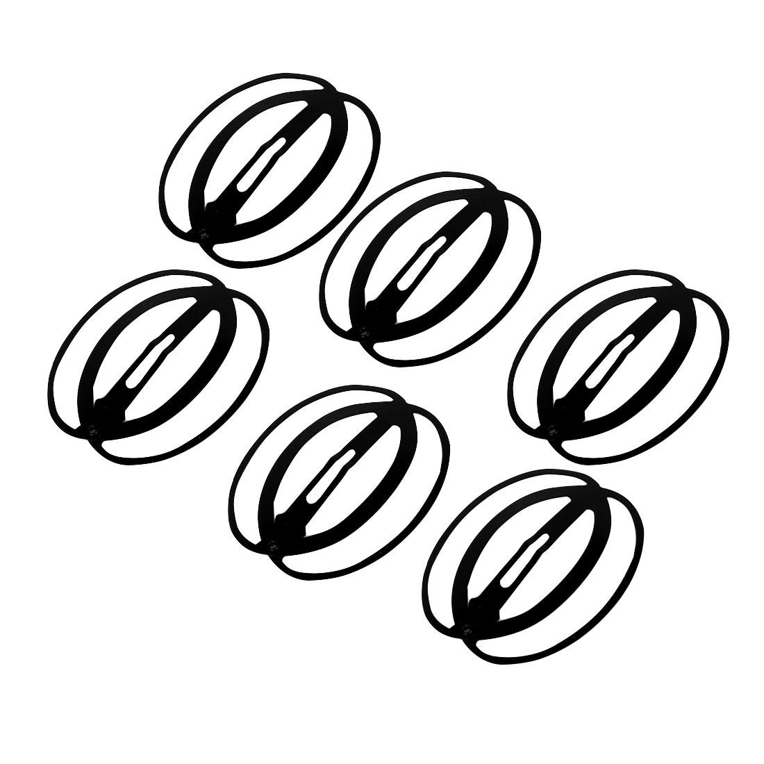 Women Ladies Metal Oval Shape Bendy Hair Clip Hairpin Bobby Pin Slides Black 6pcs