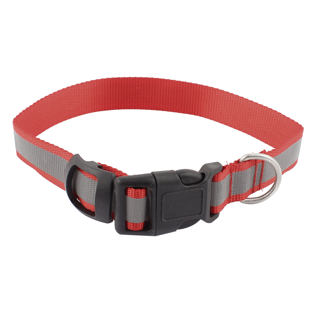 Pet Dog Doggy Buckle Release Tracking Reflective Collar Leash Belt Red