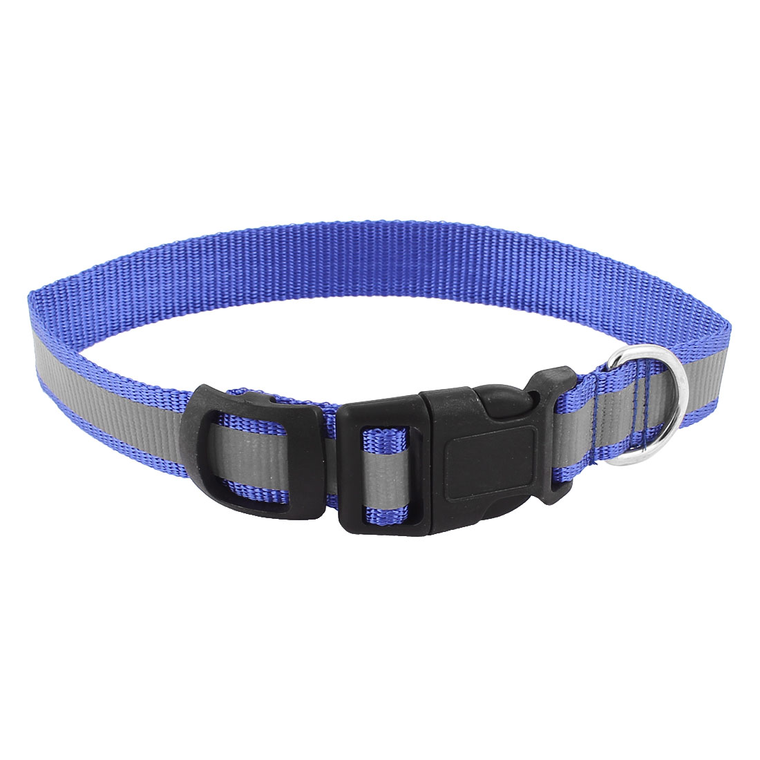Pet Dog Doggy Buckle Release Tracking Reflective Collar Leash Belt Blue