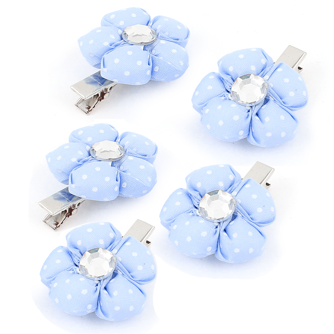 Pet Dog Pumpkin Shaped Hair Grooming Hairpin Headdress Clips 5 Pcs Blue
