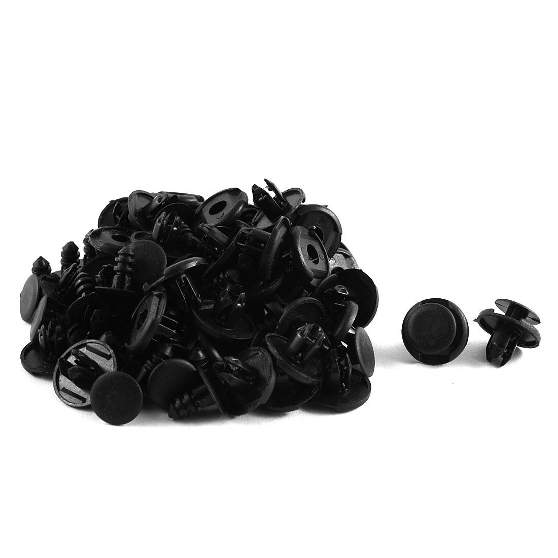 50 Pcs Black Plastic Rivet Trim Clips for Wheel Arch Linings 8mm x 19mm x 10mm