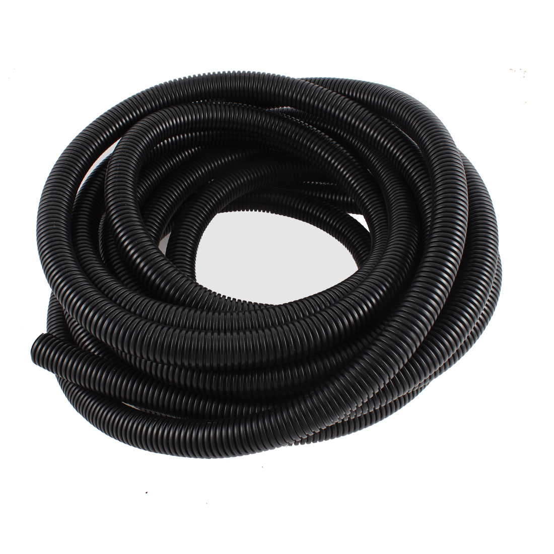 Black Flexible Bellows Hose Corrugated Tube Tubing 8M Length 21.2mm Dia