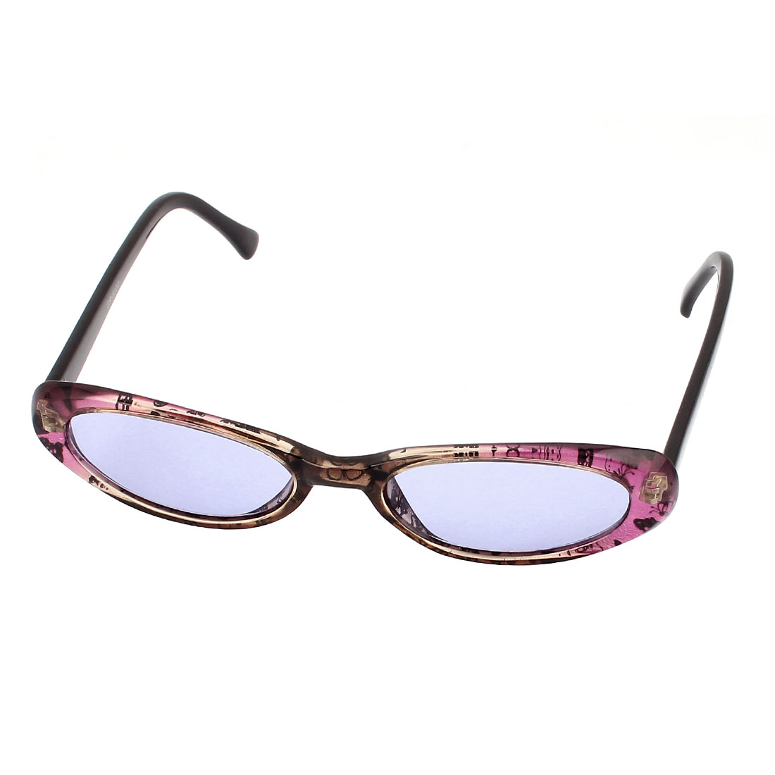 Women Animal Pattern Sunglasses Eyeglasses Eyewear Black Purple