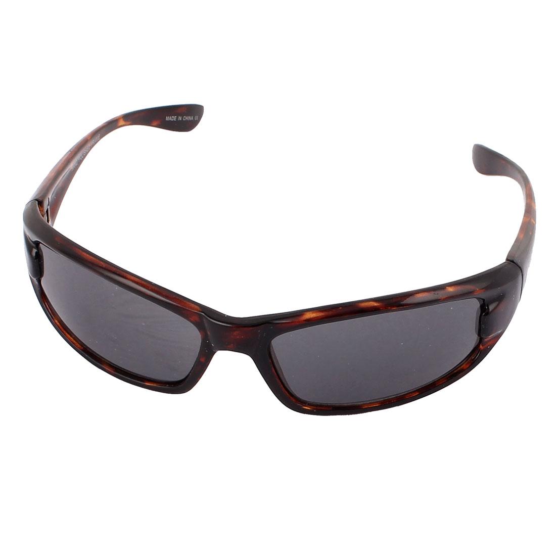 Men Retro Style Frame Outdoor Sunglasses Eyewear Glasses Dark Brown