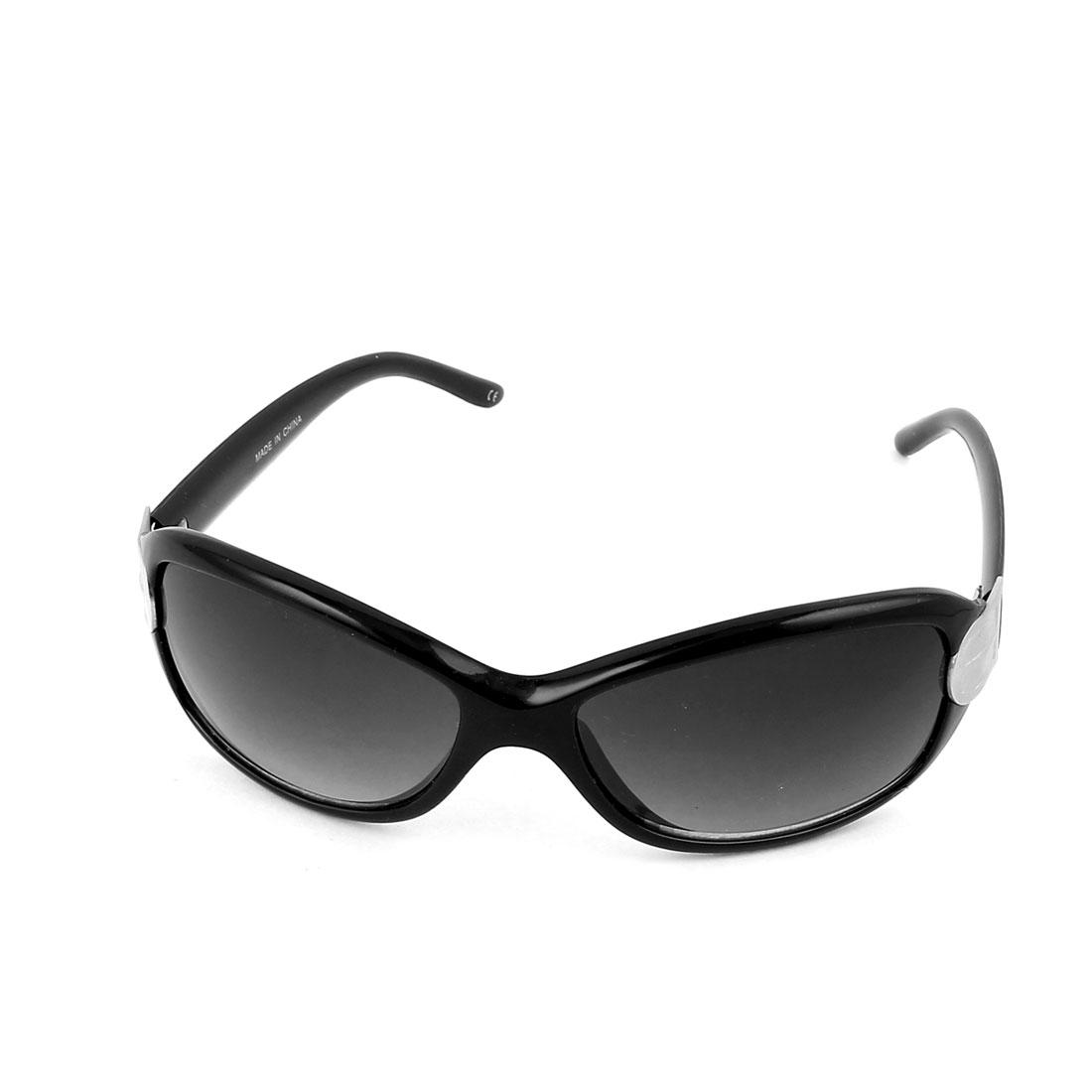 Lady Women Full Frame Sunglasses Outdoor Eyewear Shades Black