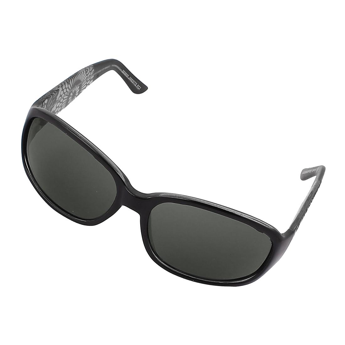 Women Men Unisex Floral Wide Temple Outdoor Sunglasses Eye Shades Eyewear