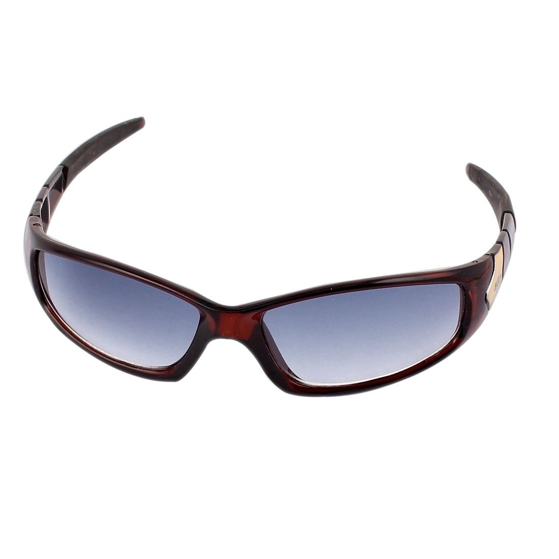 Plastic Full Frame Outdoor Driving Sunglasses Eyewear Eyeglasses Brown