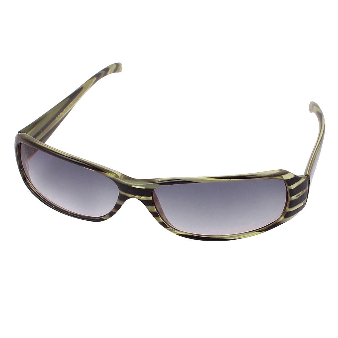 Unisex Men Women Striped Frame Sunglasses Outdoor Eyewear Glasses
