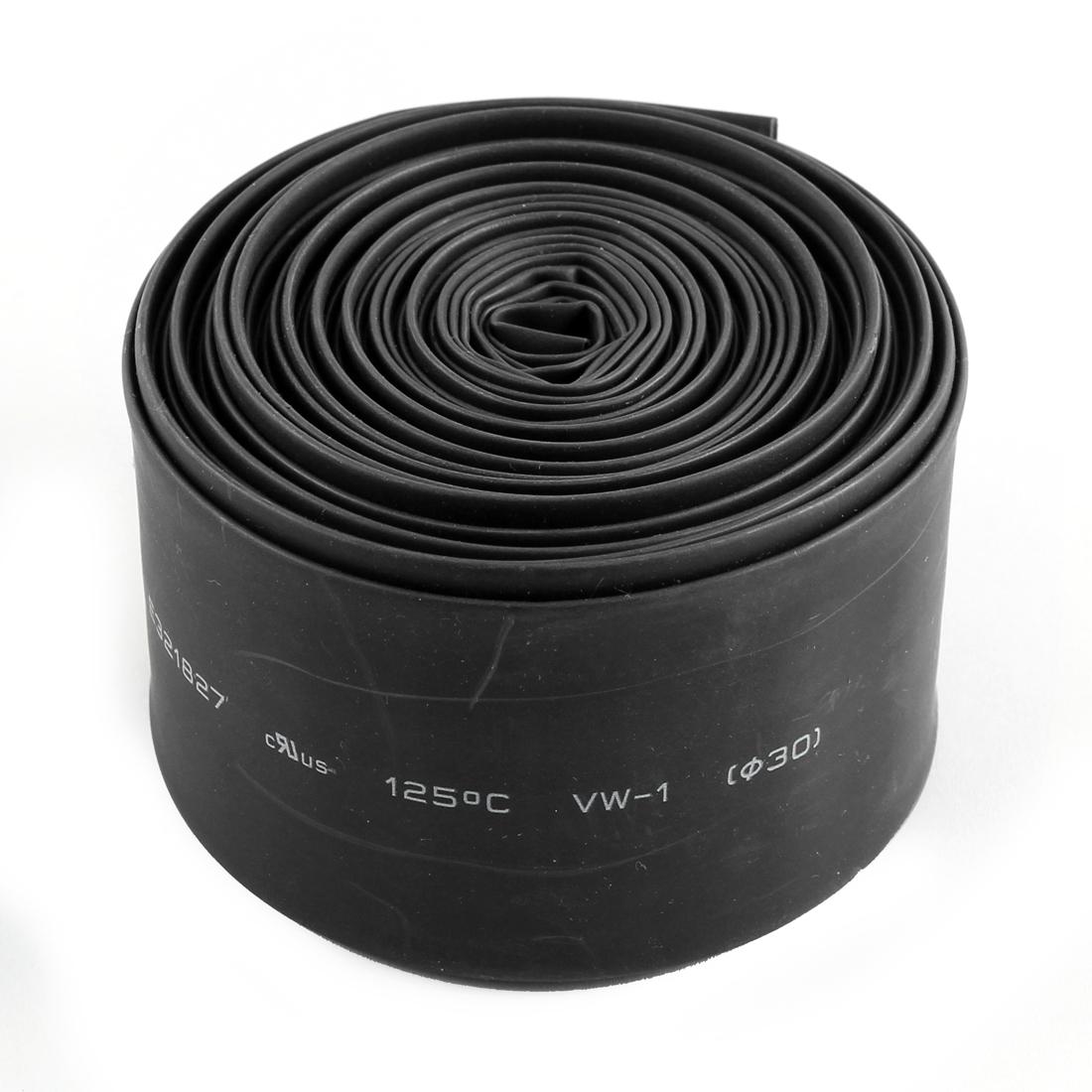 30mm Diameter Polyolefin Heat Shrink Tube Shrinkable Sleeving Black