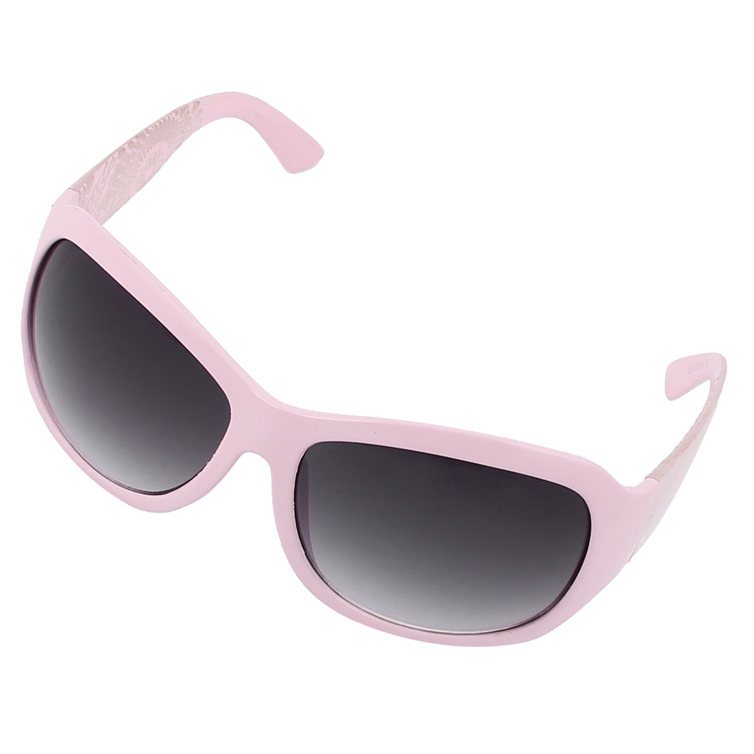Plastic Wide Floral Frame Sun Protection Sunglasses Shade Glasses Pink
