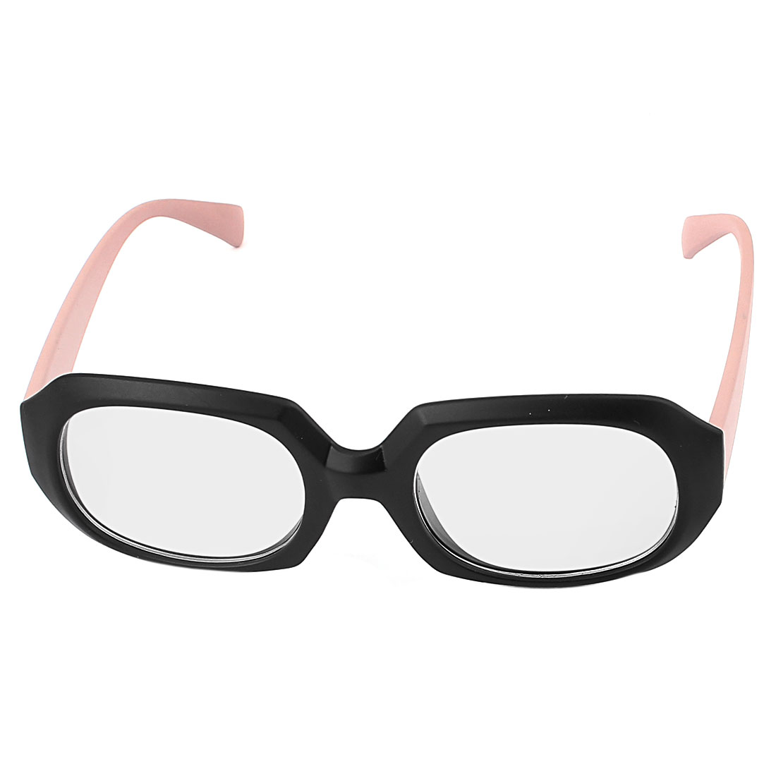 Lady Full Rim Single Bridge Pink Lens Eyeglasses Sunglasses
