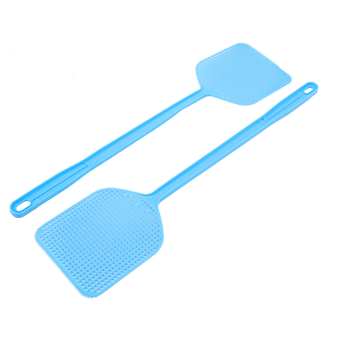2pcs Blue Plastic Fly Swatter Bug Mosquito Insect Killer Catcher 45cm Length