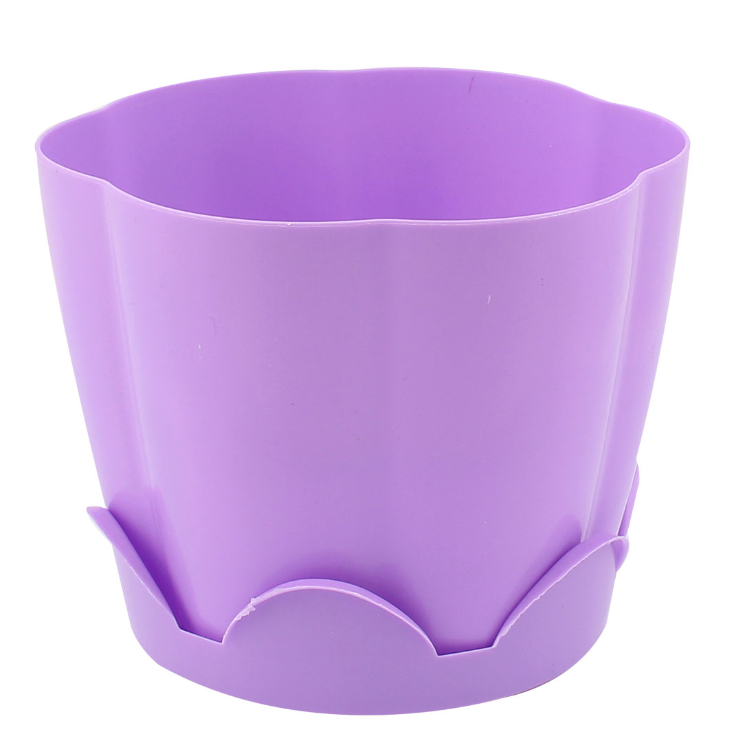 Light Purple Petal Shape Resin Plant Flower Pot Planter Flowerpot 13 x 10.5cm